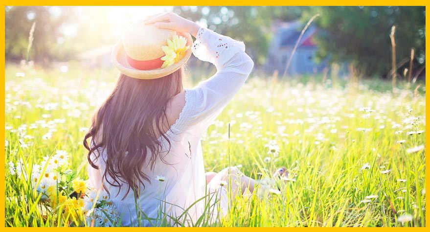 Sombrero de paja para mujeres