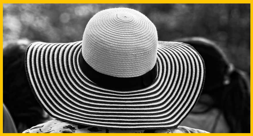 Sombrero de paja: pamela