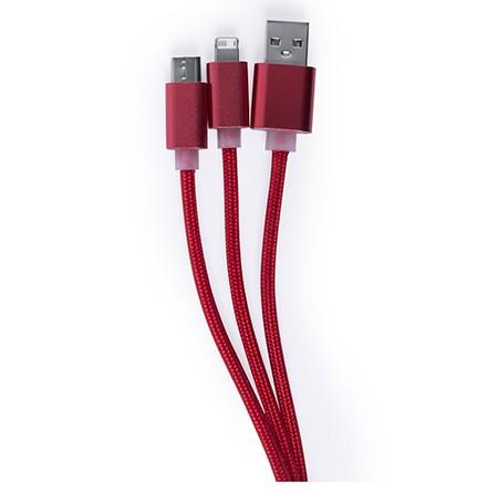 cable cargador 3 en 1 personalizado