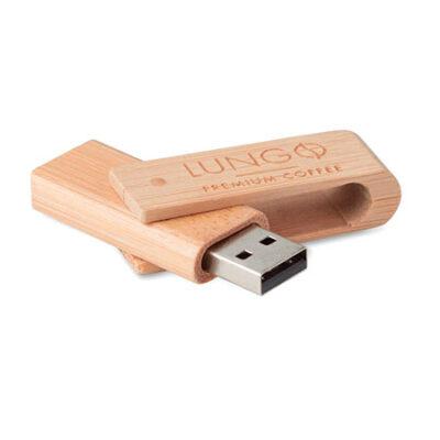 usb personalizado madera
