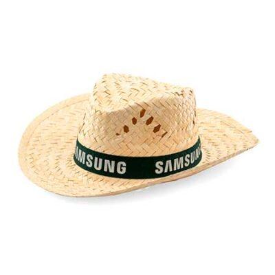 sombrero paja curvado