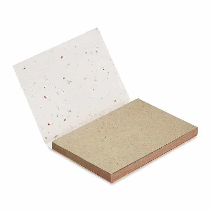 bloc notas con semillas