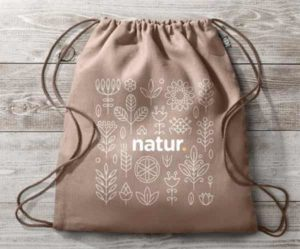 mochila de cuerdas ecológica