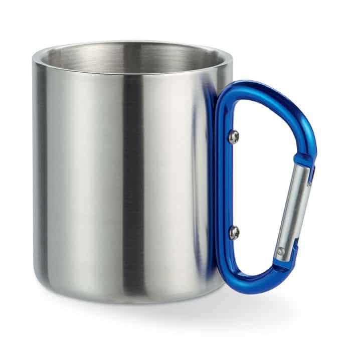 taza personalizada con mosquetón
